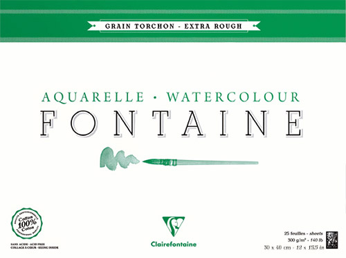 Blok Clairefontaine fontaine torchon 30x40 300g 25ark