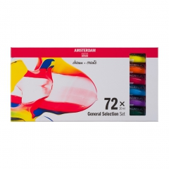 AMSTERDAM acrylic paints set 72x20ml