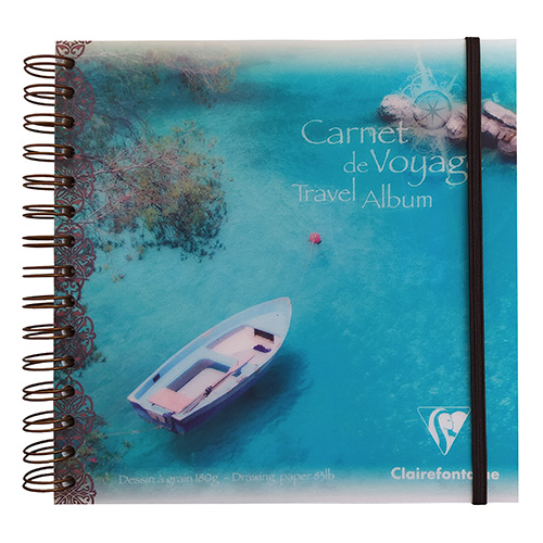 Clairefontaine block travel album multi-technique boat 180g 30ar