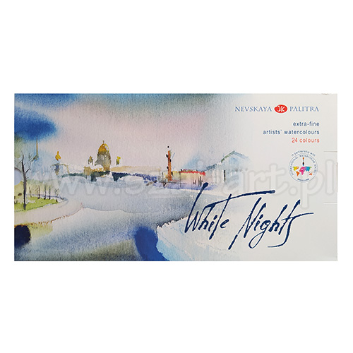 Watercolors White Nights in plastic package - 24 colors