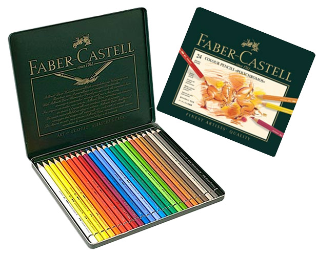 Set of 24 crayons Polychromos Faber-Castell