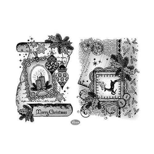 Viva Decor A5 Clear Silicone Stamps Set - 3D Christmas