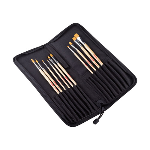Talens artcreation set of 10 synthetic brushes in a case