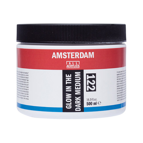 Talens amsterdam medium glow in the dark 500ml