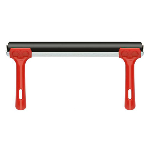 Rubber roller with a double handle 30 cm