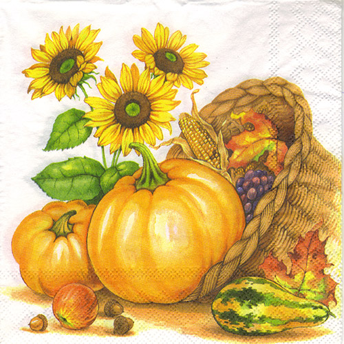 Serwetka do decoupage Ambiente 23-13307985 pumpkin basket