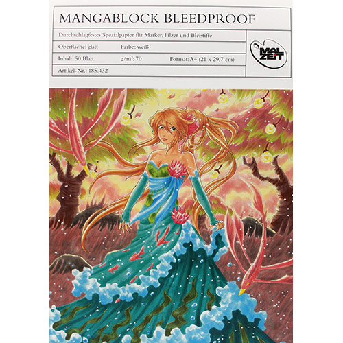 Blok MALZEIT manga bleedproof do markerów 70g 50ark A4