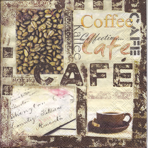 Serwetka do decoupage Ambiente 6-13307625 coffee