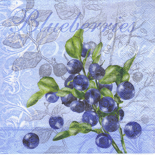 Serwetka do decoupage Ambiente 26-13308055 blueberries
