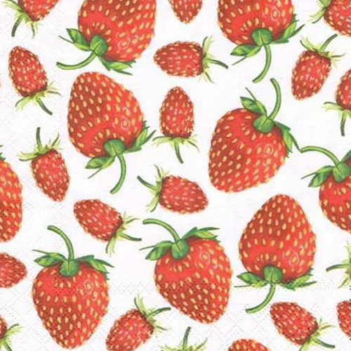 Serwetka do decoupage Ambiente 22-133009365 strawberries