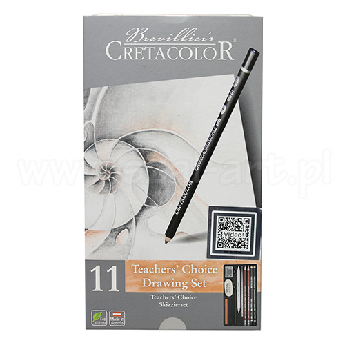 Cretacolor teachers choice zestaw szkicowy 11 elem.  40033