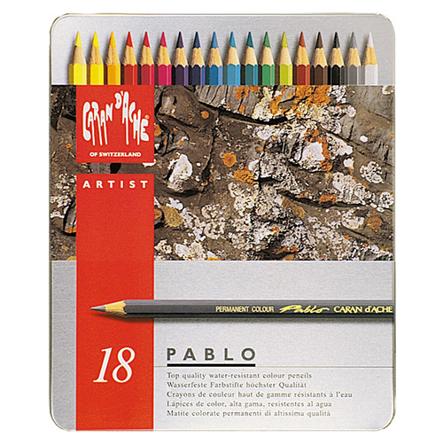Caran d'ache pablo set of 18 colored pencils in a pack