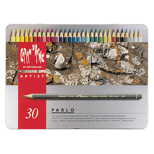 Caran d'ache pablo set of 30 colored pencils in a pack