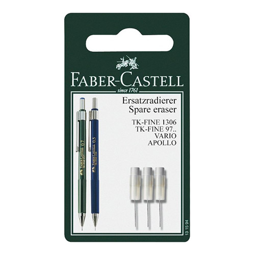 Faber-Castell spare erasers for TK-FINE automatic pencils