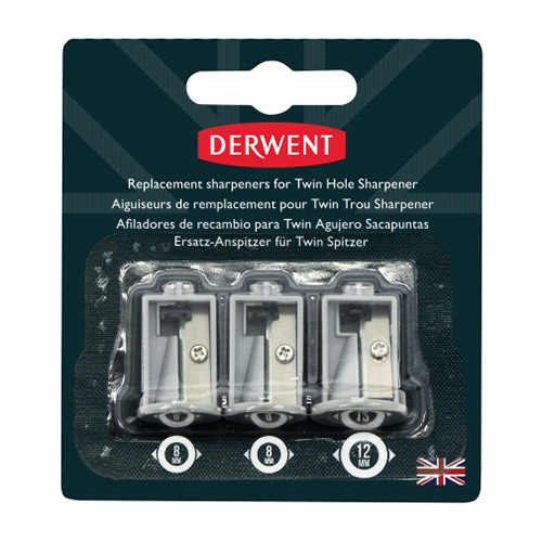 Replacement  sharpeners for the Derwent electric pencil sharpene