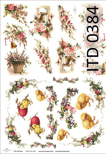 Papier do decoupage A3 ITD 384