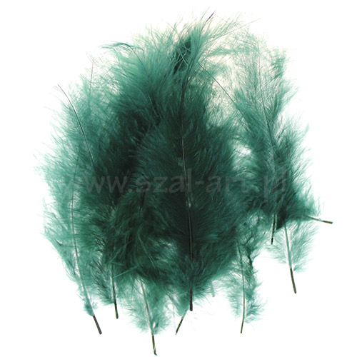 Decorative feather 12cm Green
