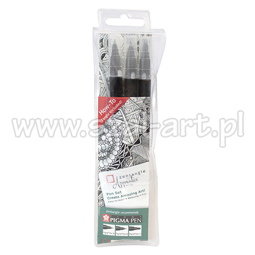 Sakura zentangle apprentice set of 3 pieces pigma pen