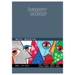 Blok Happy Color mix media 200g 25 ark