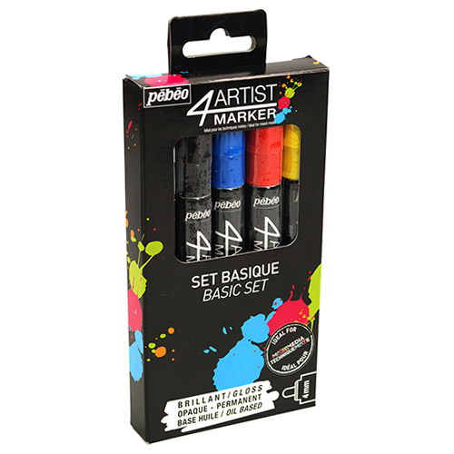 Set of 5 pen 4Artist Pebeo Basic 4mm