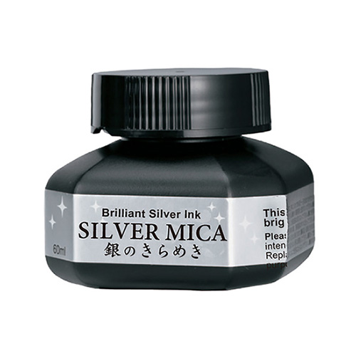 Kuretake mica silver 60ml silver ink for calligraphy