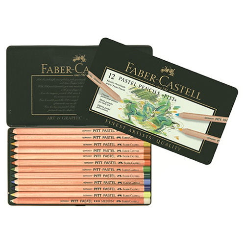 Faber-Castell pitt pastel set of 12 pastels dry in a crayon