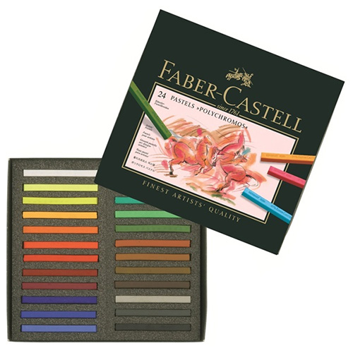 Faber-Castell polychromos set of 24 dry pastels in a stick