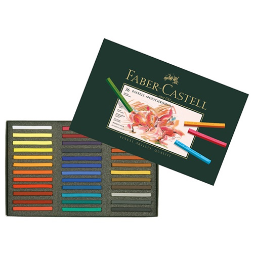 Faber-Castell Polychromos set of 36 dry pastels in a stick