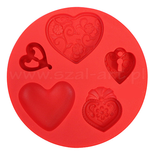 Silicone molds Fimo - hearts
