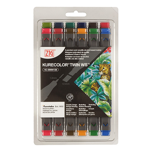 Kurecolor Twin WS Deep set of 12 markers