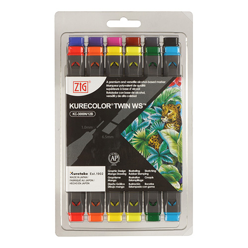 Kurecolor Twin WS Natural set of 12 markers