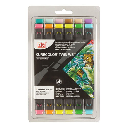 Kurecolor Twin WS Pale set of 12 markers