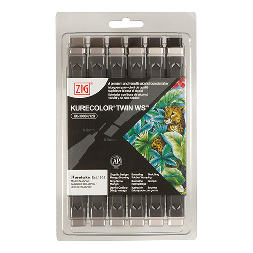 Kurecolor Twin WS Warm Gray set of 12 markers