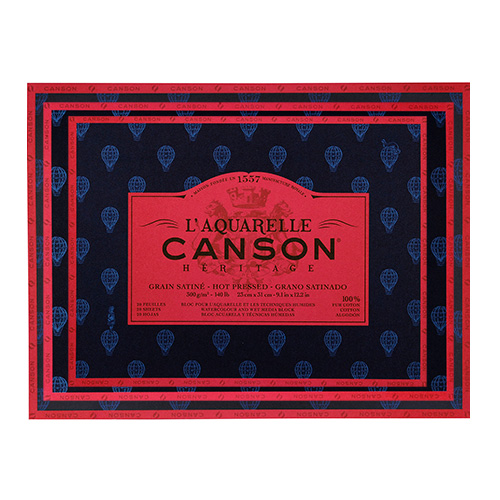 Canson Heritage block watercolor satin 300g 20 sheets