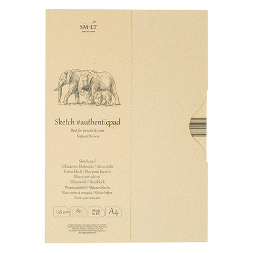 Blok SM-LT sketch pad natural brown A4 135g 80ark etui