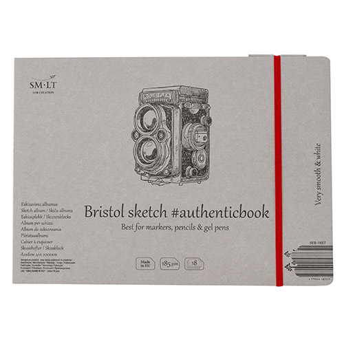 Block SM-LT Bristol sewn with a rubber band 24.5x17.6 cm 185g 18
