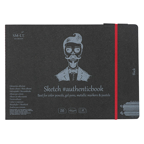 Block SM-LT Sketch Pad sewn with an elastic band A5 165g 18k