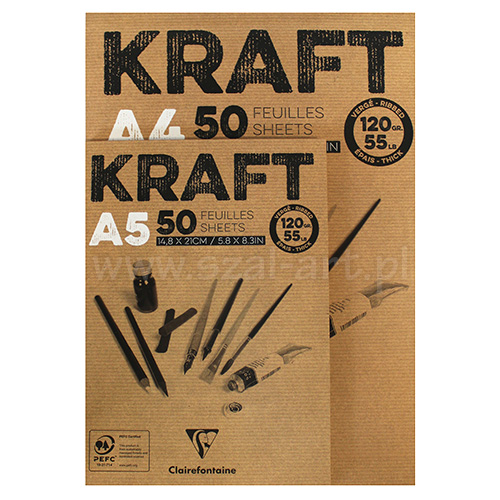 Block Clairefontaine Kraft 120g 50ark