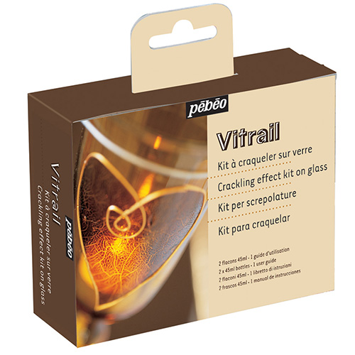 Pebeo crackling vitrail crack effect on glass