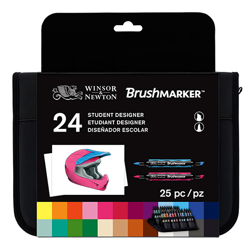 Winsor & Newton brushmarker student designer set of 24 colors