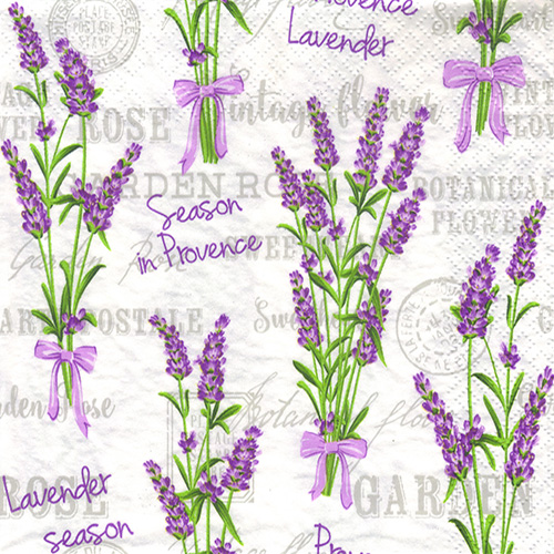 Napkin for decoupage Daisy 3-025801 lavender