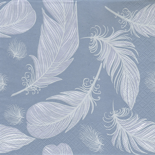 Napkin for decoupage Maki 25-035001 feathers