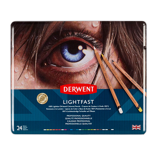Derwent lightfast a set of 24 colored pencils