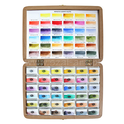 Szmal aquarius set of 36 watercolors in cubes