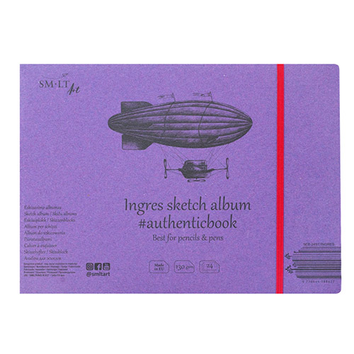 Sketchpad SM-LT ingres sketch sewn with an elastic band 175x245m