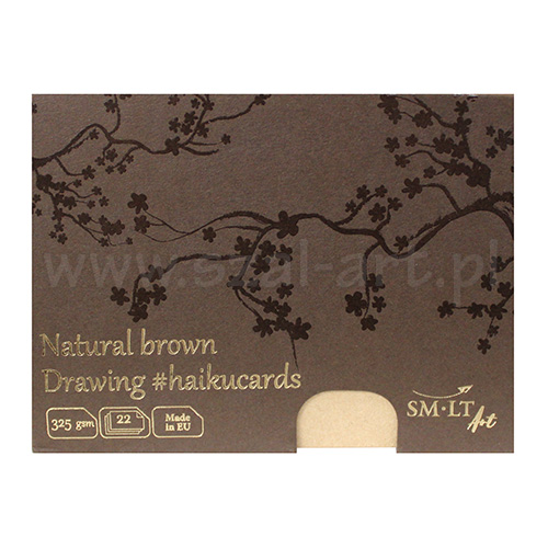Haiku SM-LT natural brown drawing cards in a box 325g 22ark