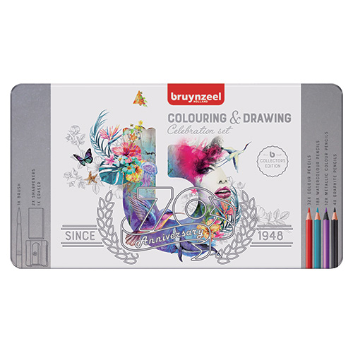 Bruynzeel Celebration Colouring & drawing set 70 items