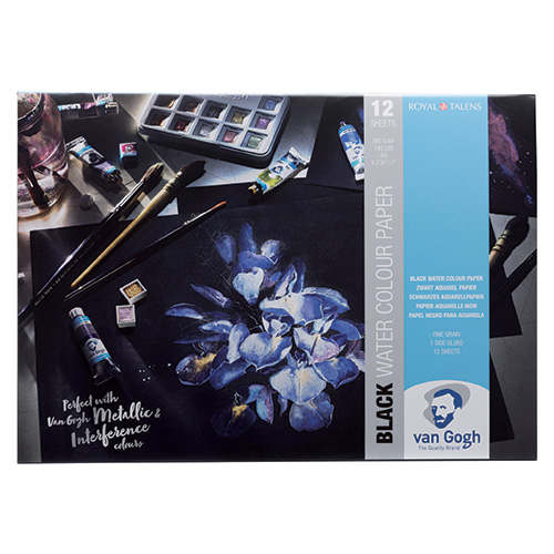 Blok Talens van gogh black watercolour paper 360g 12ark