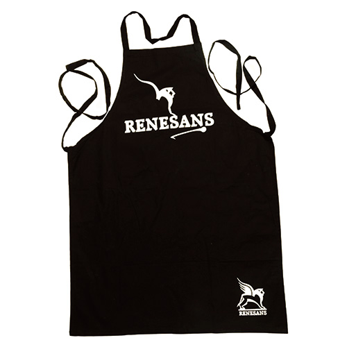 Renesans Black Painting Apron