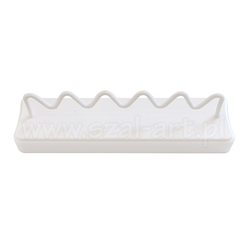 Plastic support for wet brushes for 5 pieces
